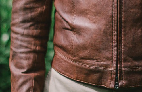 Bespoke leather jacket Davide Taub waist