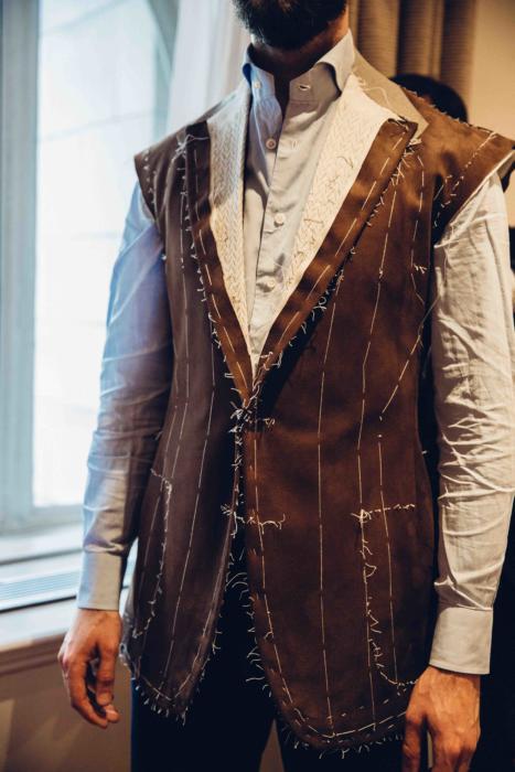 Cifonelli bespoke suede jacket