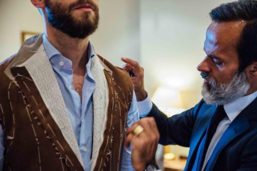 Cifonelli bespoke suede jacket paris