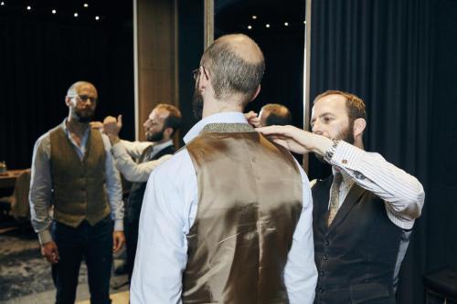 Herringbone waistcoat Davide Taub bespoke2