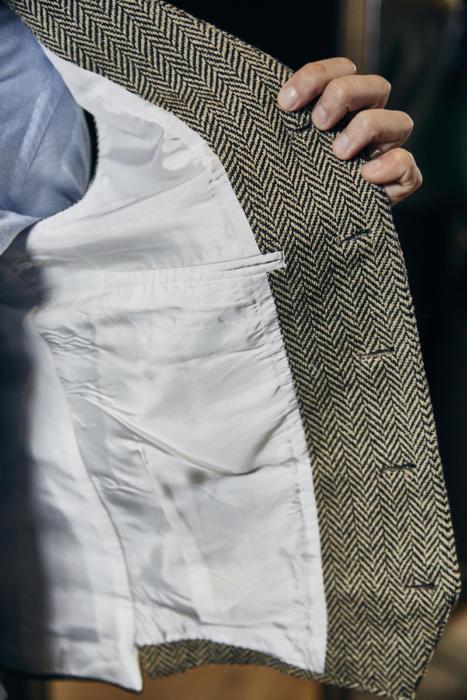 Herringbone waistcoat Davide Taub bespoke4