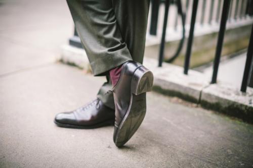 JM Weston rubber sole shoe