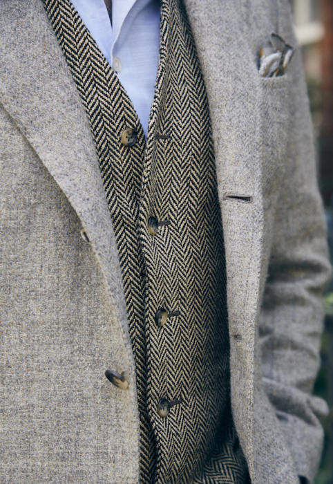 bespoke waistcoat graham browne and bespoke tweed jacket copy