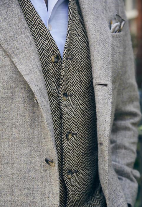 bespoke waistcoat graham browne and bespoke tweed jacket copy