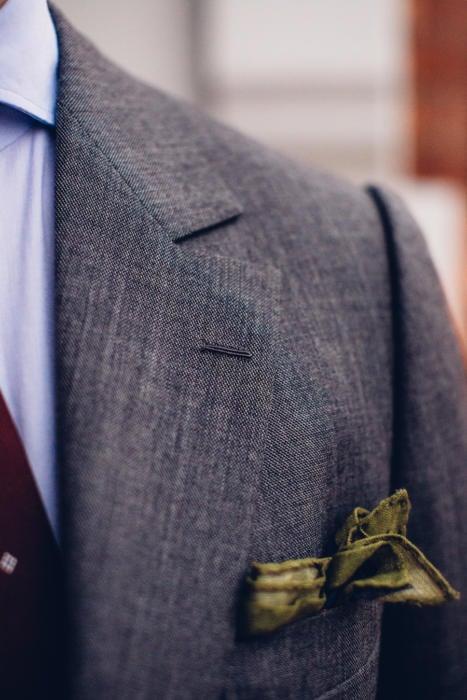 Camps de Luca suit Milanese buttonhole