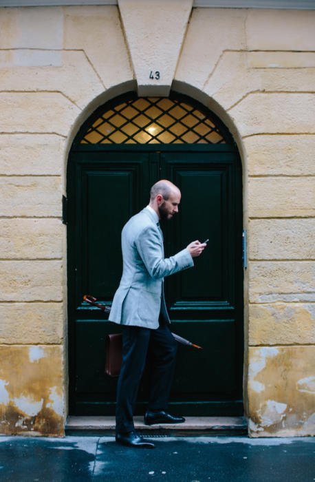 Cifonelli grey jacket