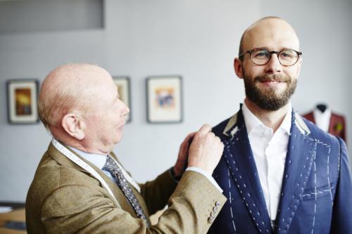 Whitcomb & Shaftesbury bespoke suit fitting 25