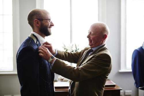 Whitcomb & Shaftesbury bespoke suit fitting mccabe
