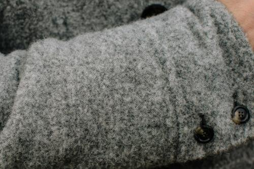 milled grey wool coat