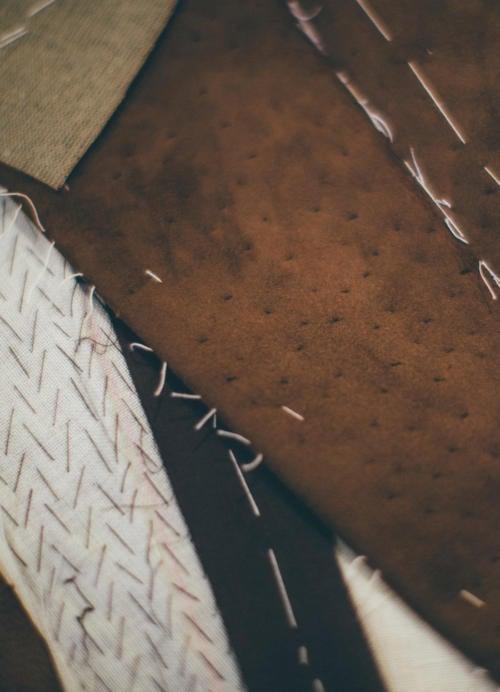 suede pad stitching