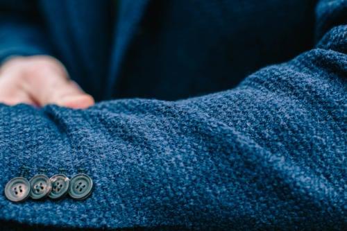 waffle knit jersey jacket stile latino