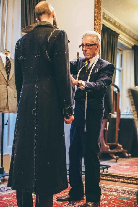 Edward Sexton bespoke overcoat