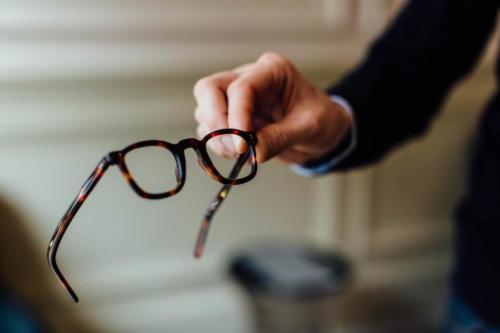 Maison Bourgeat brown tortoiseshell glasses