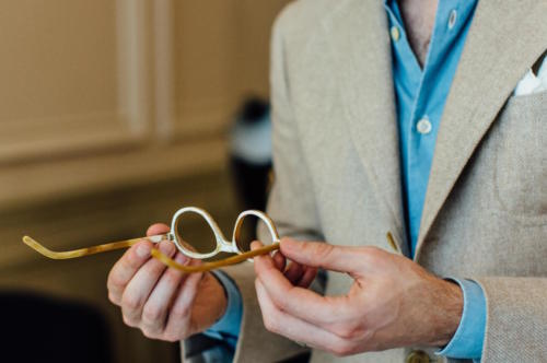Maison Bourgeat glasses antelope horn
