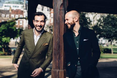 Friday polo shirt Simon Crompton with Adam Rogers