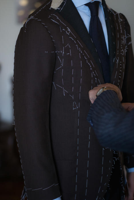 Sartoria Dalcuore bespoke suit fitting