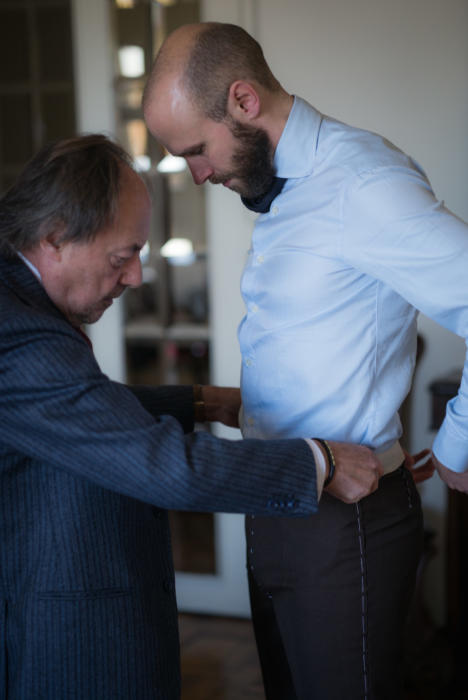 Sartoria Dalcuore fitting on Simon Crompton