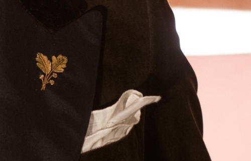 brown velvet jacket with gold embroidery