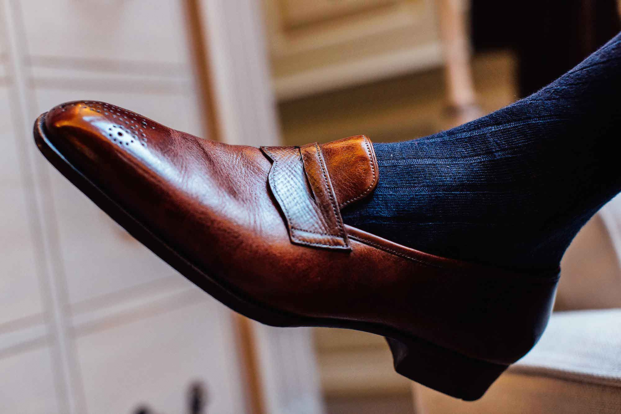 gaziano and girling bespoke loafer