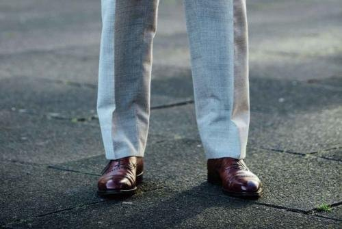 stefano bemer bespoe shoes and ambrosi trousers