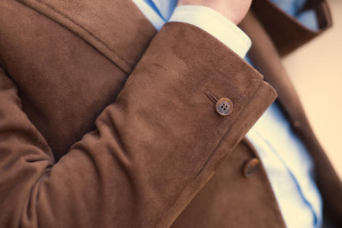 Cifonelli bespoke suede jacket Button