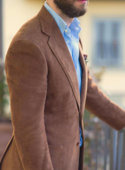 Cifonelli bespoke suede jacket Profile