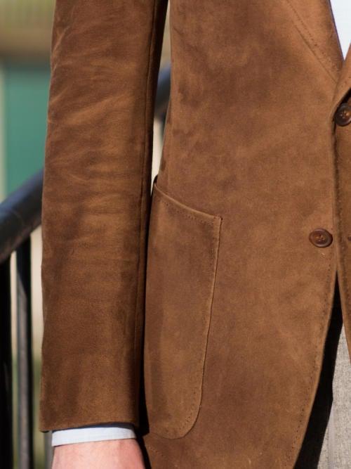 Cifonelli bespoke suede jacket Sleeve