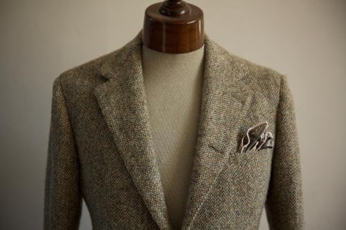 Cifonelli harris tweed jacket