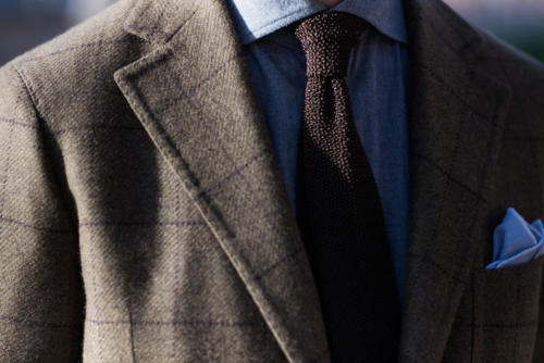 Escorial jacket Solito bespoke grey shirt