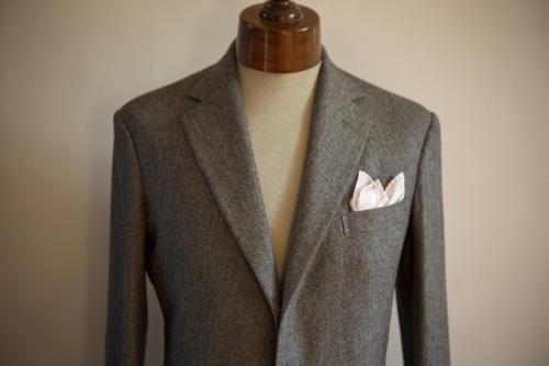 anderson sheppard bespoke flannel suit