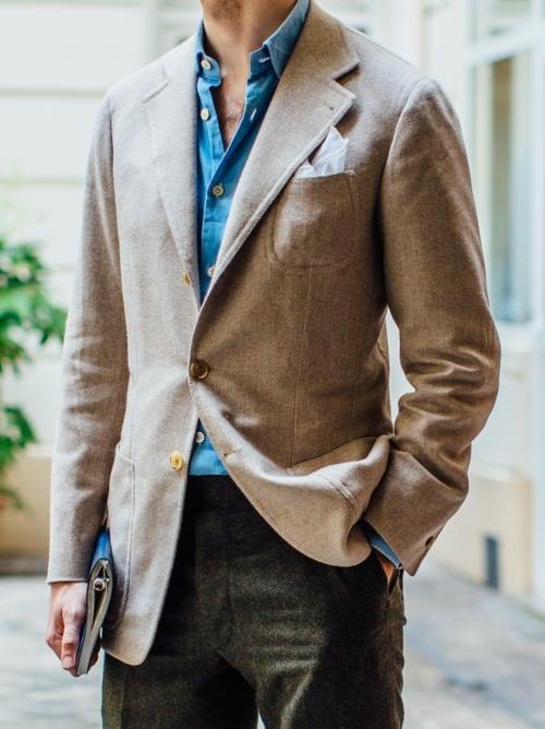 bespoke neapolitan cashmere jacket