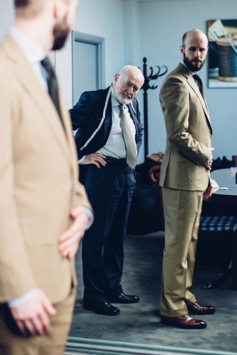 Bryan Manning bespoke suit fitting