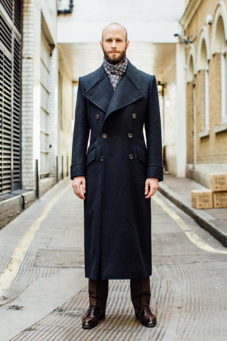 Edward Sexton bespoke overcoat front