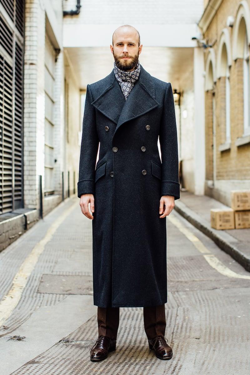 Edward Sexton Long Overcoat Finished Permanent Style