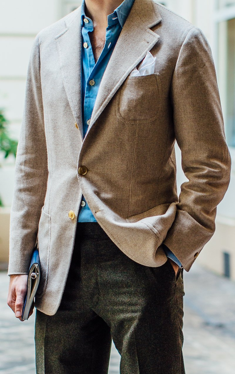 Your next sports jacket: Oatmeal cashmere from Elia Caliendo ...