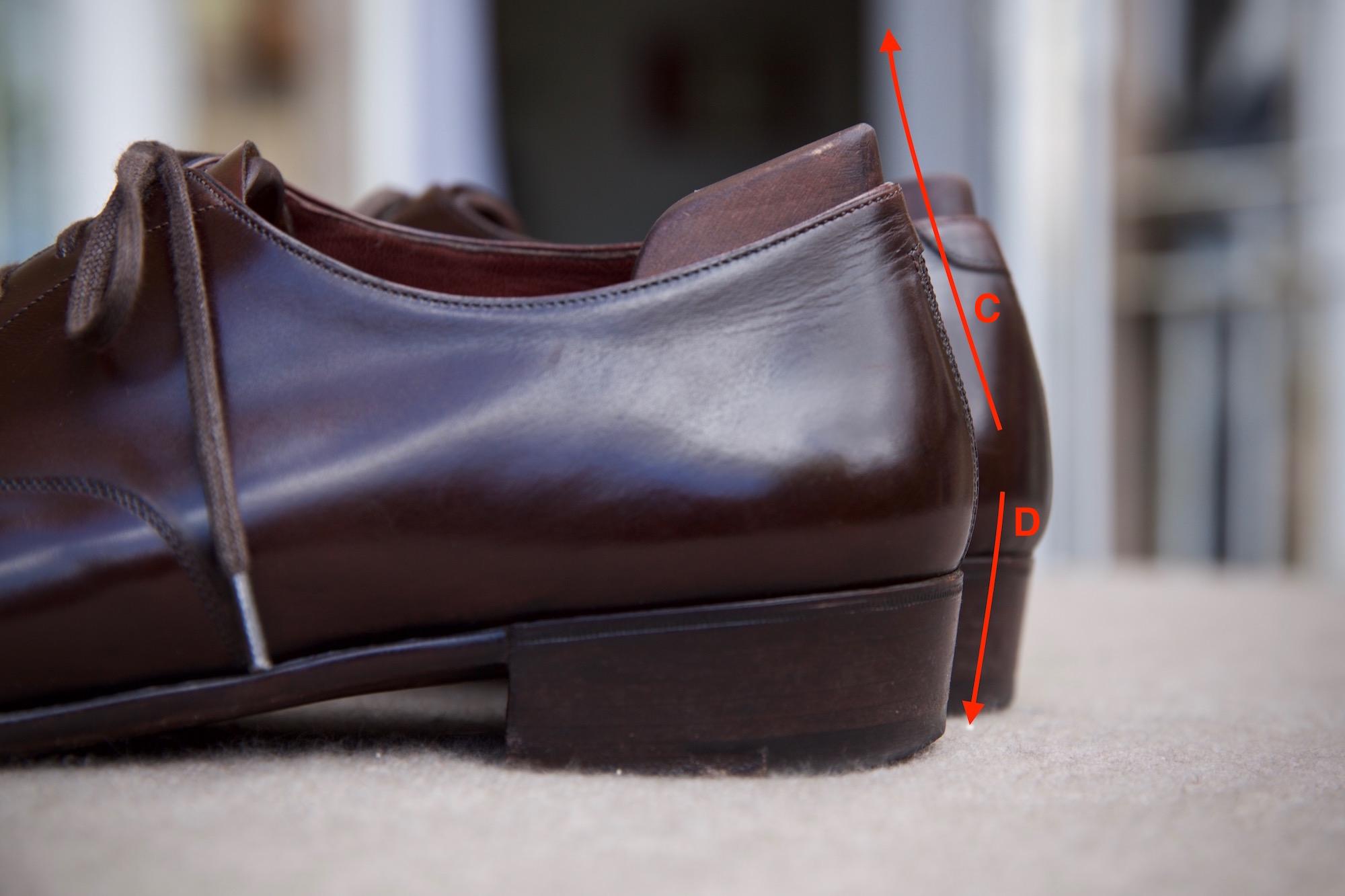 Foster & Son bespoke shoe heel cup
