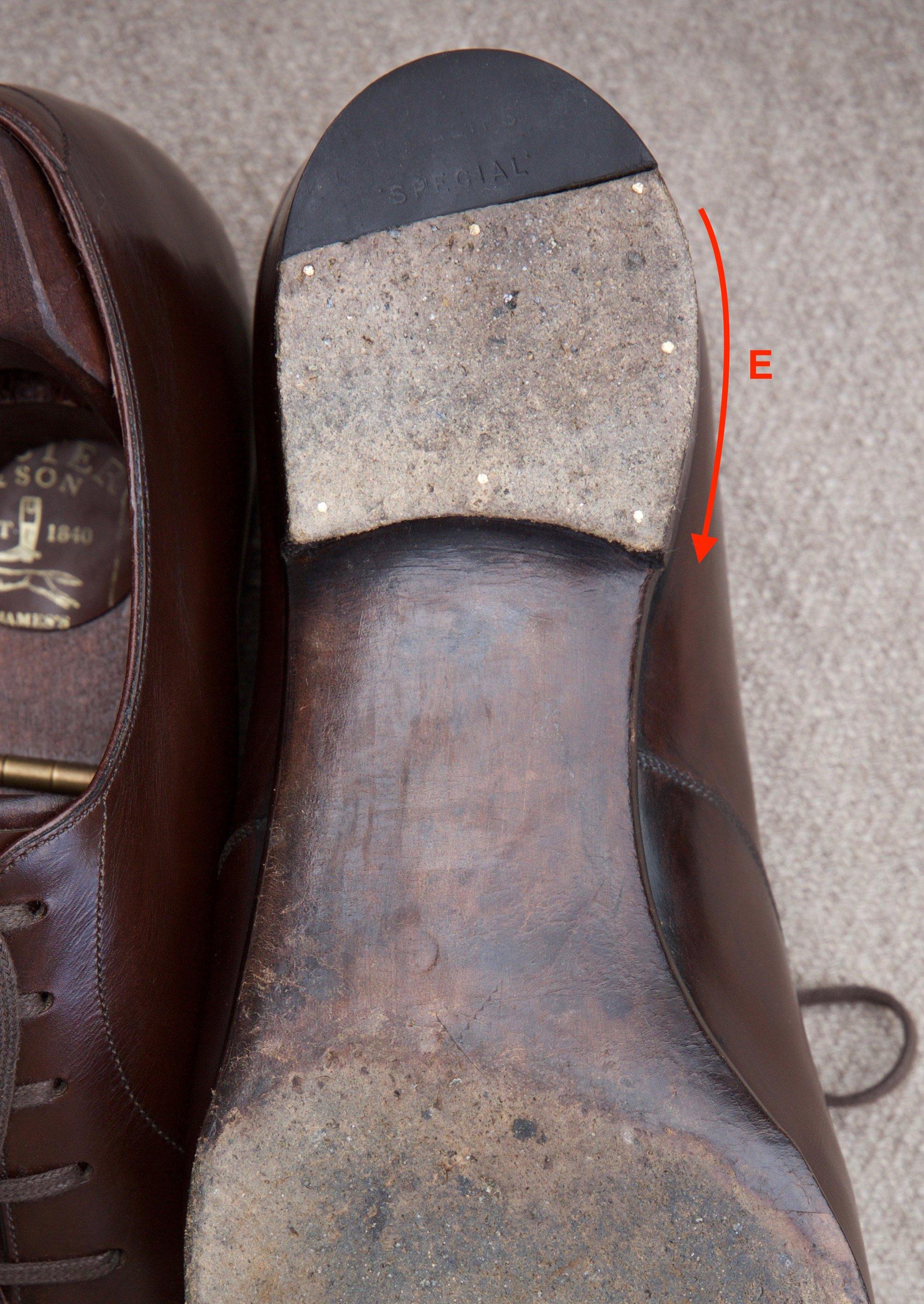 Foster & Son bespoke shoe heel