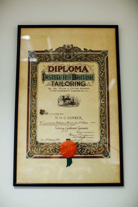 Dege & Skinner diploma