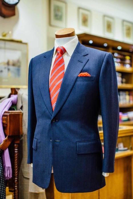 Dege & Skinner navy suit