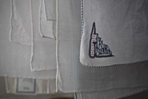 hand embroidered handkerchief
