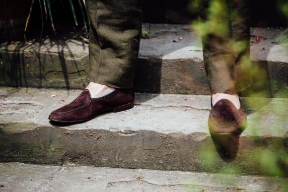 Allan Baudoin Sagan brown belgian loafer