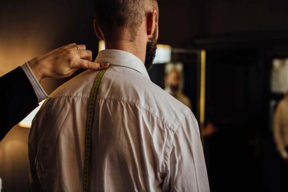 Charvet bespoke shirt measuring