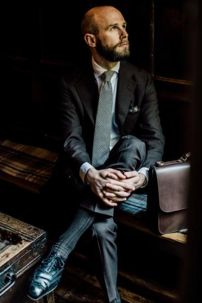Dalcuore Bespoke Brown Crispaire Suit Permanent Style