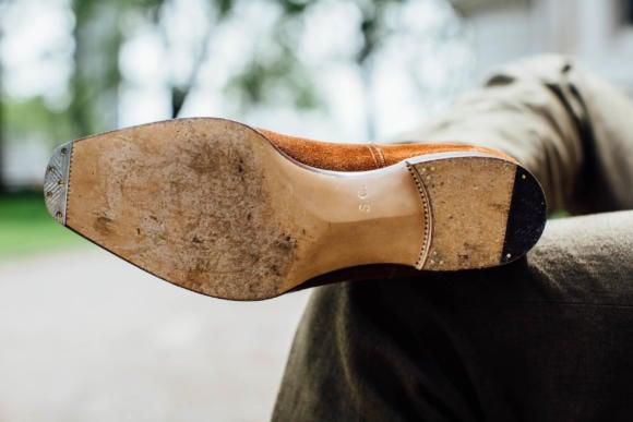 Stefano Bemer bespoke shoe sole bevelled