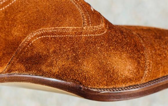 Tobacco suede shoe texture