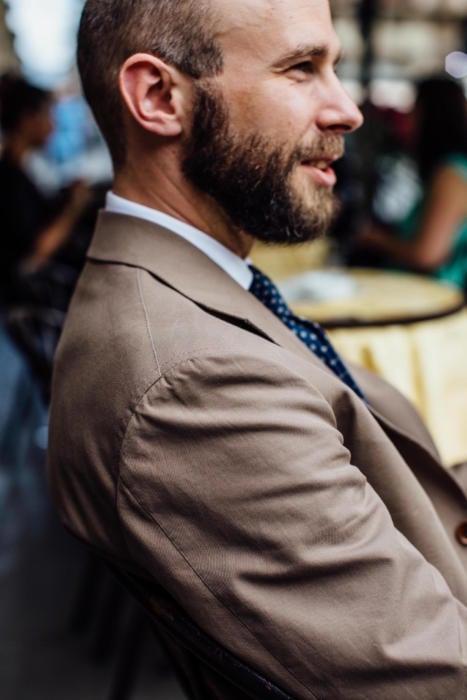 Elia Caliendo cotton bespoke suit