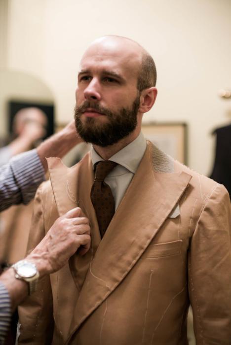 Ferdinando Caraceni jacket fitting