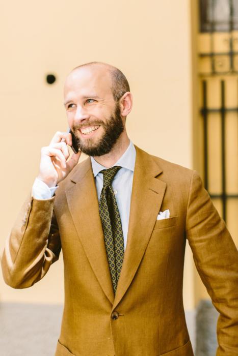 bespoke linen suit dege savile row
