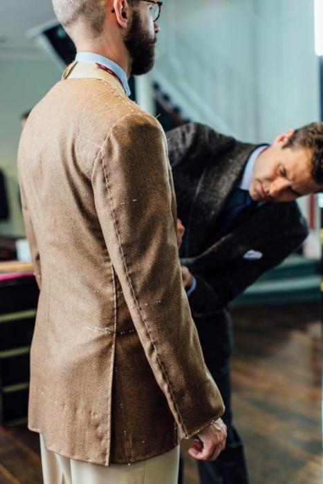 Bespoke cashmere Savile Row jacket