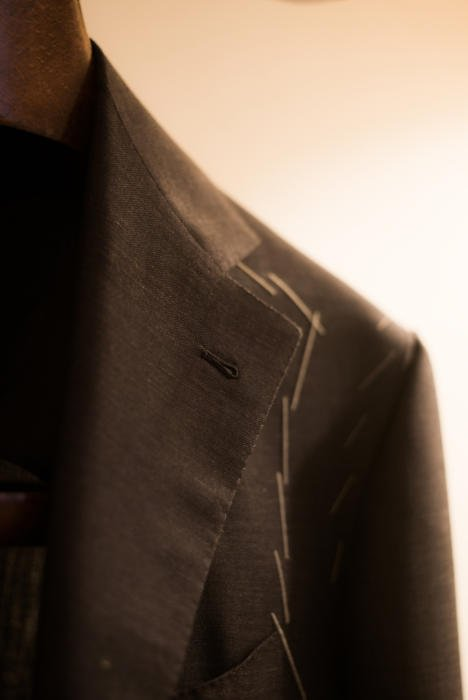 Sartoria Corcos jacket buttonhole lapel